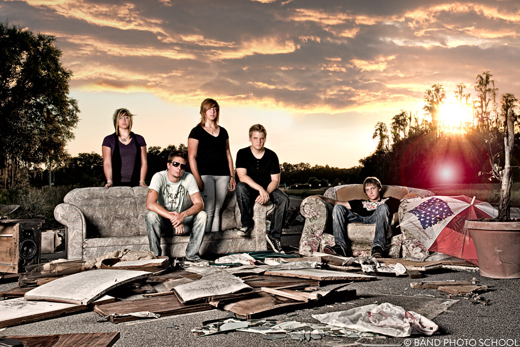 Glorysound at Trash Dump - Band Promo Composite