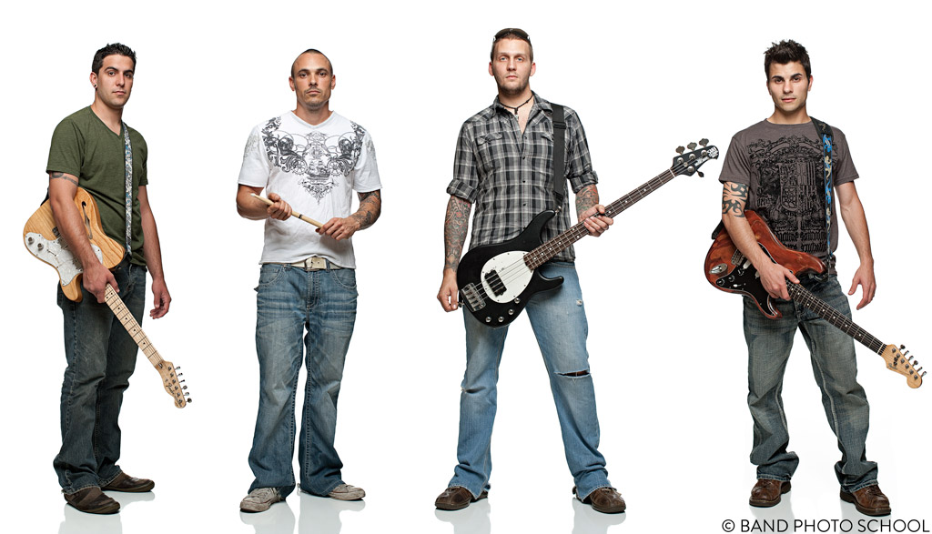 Southside Serenade on White Seamless - Band Promo Composite